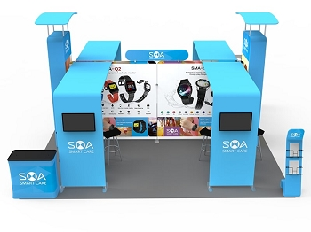 20 X 20 Booth Combo A