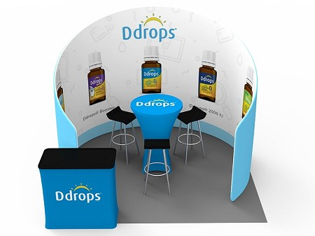 Tradeshow Displays - 10 x 10  Booth Combo D