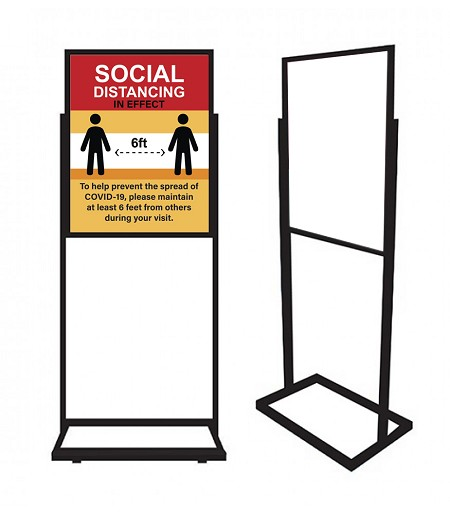 "22"" x 28"" Heavy Duty Floor Sign Holder"